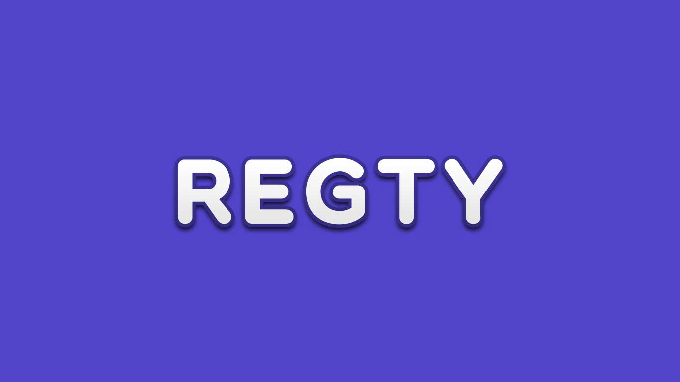 Logo for the Regty.com domain name