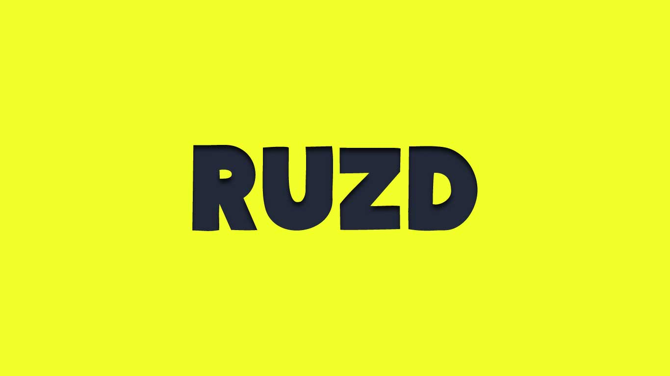 Logo for the Ruzd.com domain name