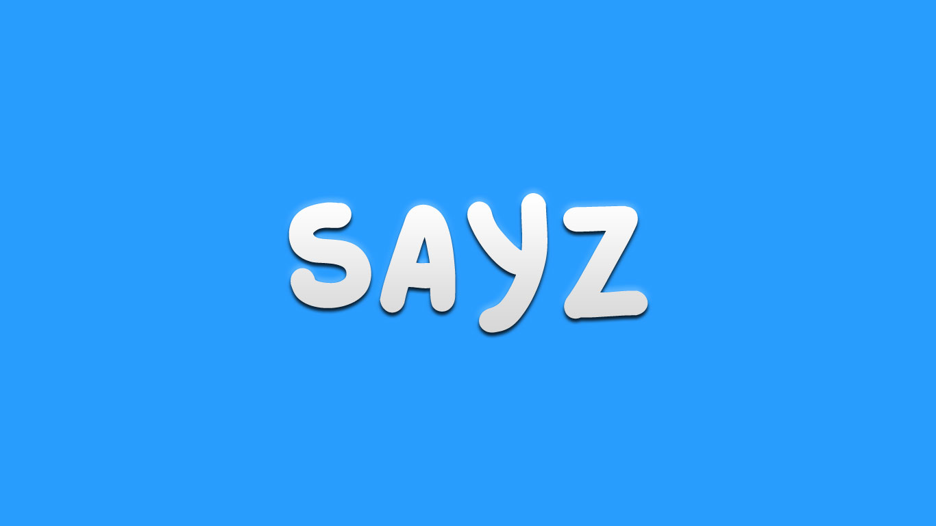 Logo for the Sayz.com domain name