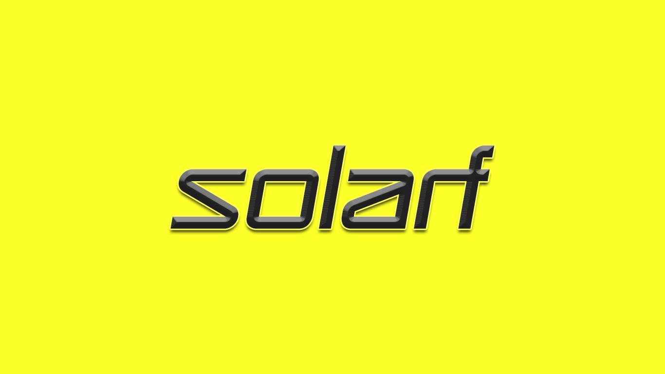 Logo for the Solarf.com domain name