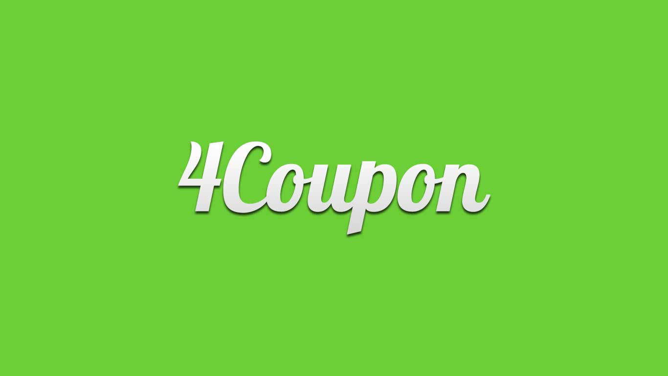 Logo for the 4Coupon.com domain name