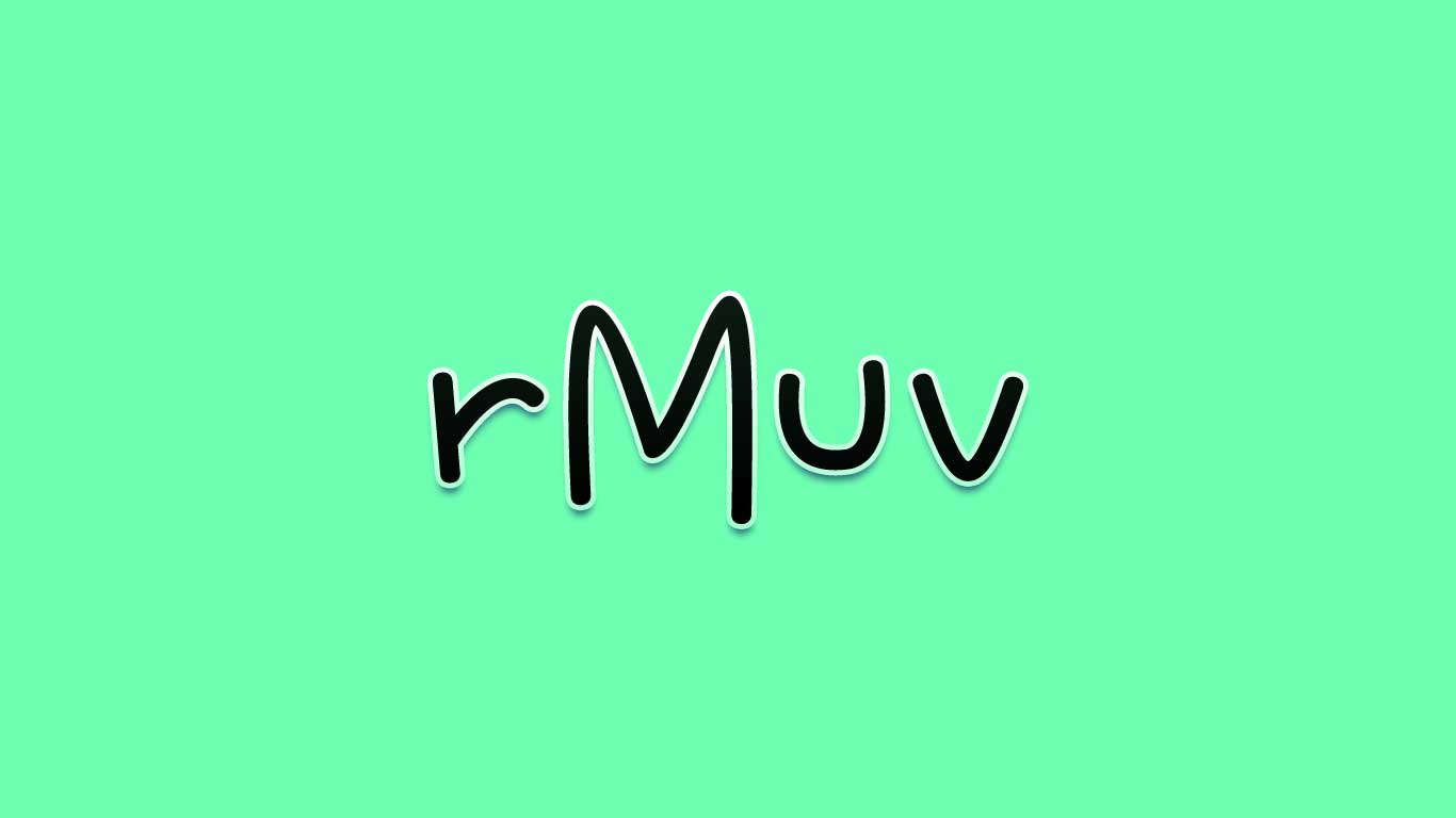 Logo for the rMuv.com domain name